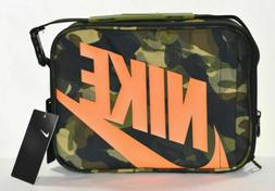 Nike NWT Futura Fuel Pack Lunch Box Green Camo Swoosh Free S