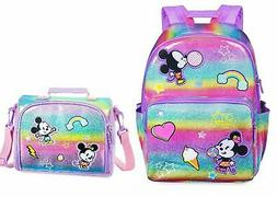 NWT Disney Store Minnie and Mickey Mouse Backpack & Matching