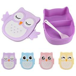 Owl Shape Lunch Box Plastic Food Storage Container Portable