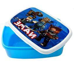 Personalised Boy ROBLOX Lunch Box School Snack Sandwich blue