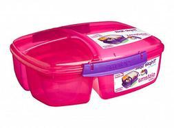 - Sistema Lunch Triple Split Lunch Box with Yoghurt Pot -2