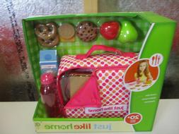 JUST LIKE HOME PLAY LUNCH BOX WITH PRETEND FOODS NEW AGES 3+