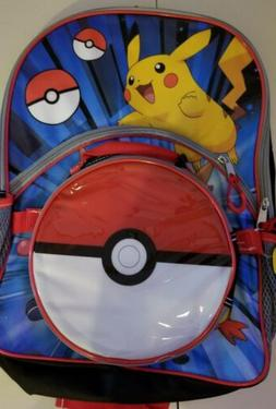 Nintendo Pokemon Pikachu 16-inch Backpack with Pokeball Lunc