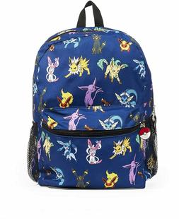 Pokemon Eevee Evolution School Backpack Book Bag Blue Kids G