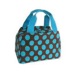 Polka Dot Thermal Insulated Lunch Box Cooler Bag Cute Womens