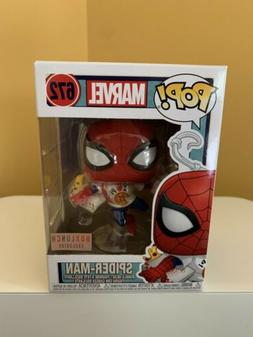 Funko Pop Marvel Spider-Man with Pizza #672 Box Lunch Exclus