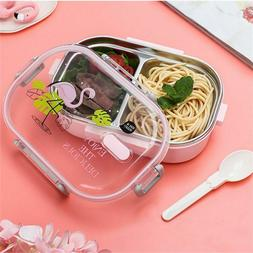 Portable Japanese Lunch Box Stainless Steel Bento Box Microw