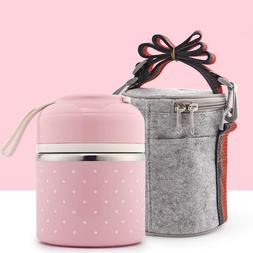 Portable Japanese Lunch Boxs Thermal Insulation Food Contain
