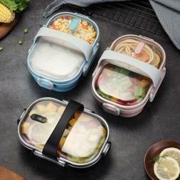 Portable Stainless Steel Leak-proof Lunch Box Home Bento Foo