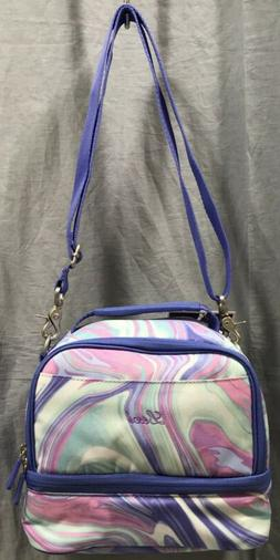 Pottery Barn PB Teen Gear-Up Pink/Purple Marble Dual Compart