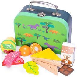 Prehistoric Dinosaur Lunch Box Playset | Wood Eats! Pretend