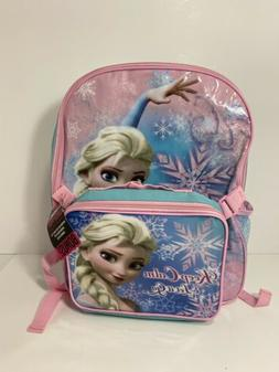 """Disney Princess Frozen Elsa 16"""" inches backpack & Lunch Box"""