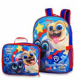 Disney Puppy Dog Pals Boys School Backpack Book Bag Lunch Bo