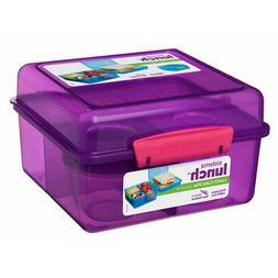Sistema Purple 2L Lunch Cube Max Multi Compartment Sandwich