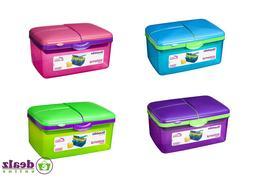 Sistema Quaddie Large Lunch Food Box 2L With Bottle Work Sch