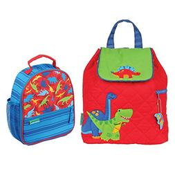 Stephen Joseph Boys Quilted Dinosaur Backpack and Dinosaur P