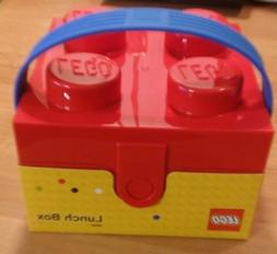 LEGO RED Brick Storage Case Lunch Box Container BRAND NEW