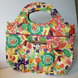 LILY BLOOM REUSABLE INSULATED LUNCH BOX TOTE BAG COOLER FLOW