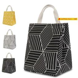 Homespon Reusable Lunch Bag Insulated Lunch Box Canvas Fabri