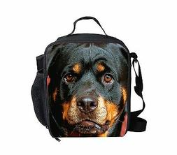 Rottweiler Lunch Bags Kids Insulated Lunchbox Thermal Cooler
