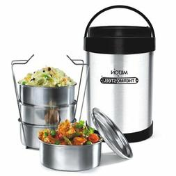 Milton Royal Insulated Hot Tiffin Thermosteel Lunch Box 4 Co