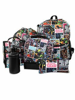 Star Wars 6 piece Boys Girls Backpack and Lunch Box School S