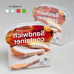 Sandwich Container Keeper Lunch Box Snack Microwave Safe Sto