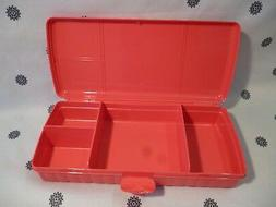 Tupperware Sandwich Keeper Plus Divided Lunch Box Pink New