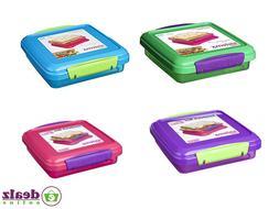 Sistema Sandwich Lunch Box 450ml Office School BPA Free Blue