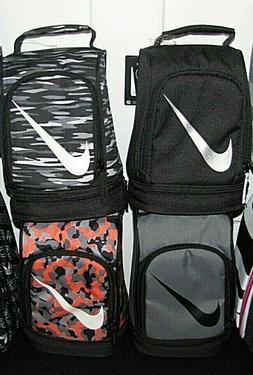 Nike School Bag Lunch Box Dome Grey Black Orange Geo Camo