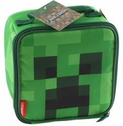 Minecraft School Soft Lunch Box Bag Tote Kit Boys Square Cre