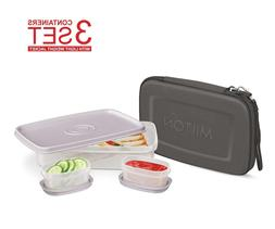 Slim Lunch Box Kit for Adults Bento Style - 1 Big & 2 Inner