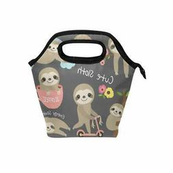 Sloth Lunch Box for Kids Girls Women Freezable Insulated Lun