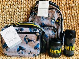 Pottery Barn Kids Batman Small Backpack Water Bottle Lunch B