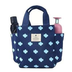 Small Lunch Bag Box Tote Handbag with Water Bottle Holder fo