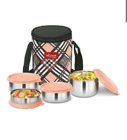 Milton Smart Meal Lunch Box,Set Of 4-Random Colour