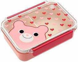 Kotobuki Snap-Lid Bento Box, Bear and Hearts