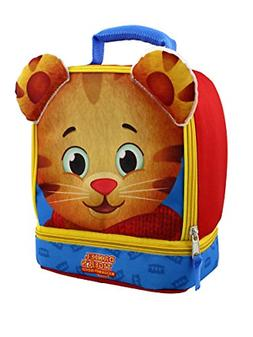Daniel Tiger Soft Dual Compartment Lunch Box Red/Blue