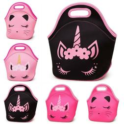 Soft Tote Bag Lunch Box Insulated Reusable Neoprene Bags Cat
