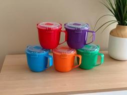 SISTEMA SOUP MUG 30oz CUP LUNCH BOX MICROWAVE BPA FREE New T