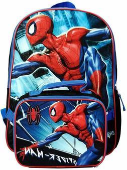 "Marvel Spider Man 16"" Bookbag Backpack Boys School Bag Lunch"