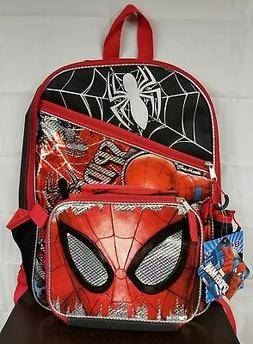 Spiderman Backpack Marvel Avengers Lunch Box Boys Full Size