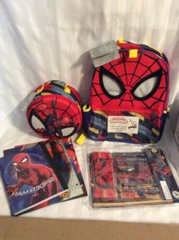 Disney Spiderman Backpack, Supply Kit and Lunch box NWT