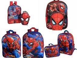 Marvel Spiderman Boys Backpack Bookbag Lunch Box School Kids