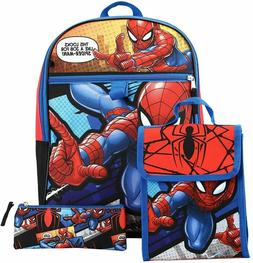 Marvel Avengers Spiderman Boys School Backpack Bookbag Lunch
