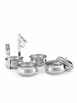 ROYAL SAPPHIRE Stainless Belly Tiffin Lunch Box For Office T