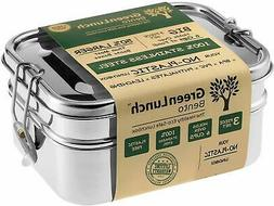 Stainless Steel 3-in-1 Bento Lunch Box + FREE LIFE-TIME WARR