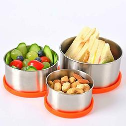 Stainless Steel Bento Lunch Box Metal Food Storage Container