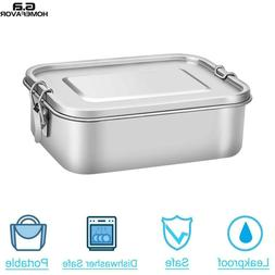 Large Stainless Steel Lunch Box Bento Box Food Storage Conta
