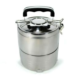 STAINLESS STEEL INSULATED 2 TIER LUNCH BOX 1.2 liter 40 oz B